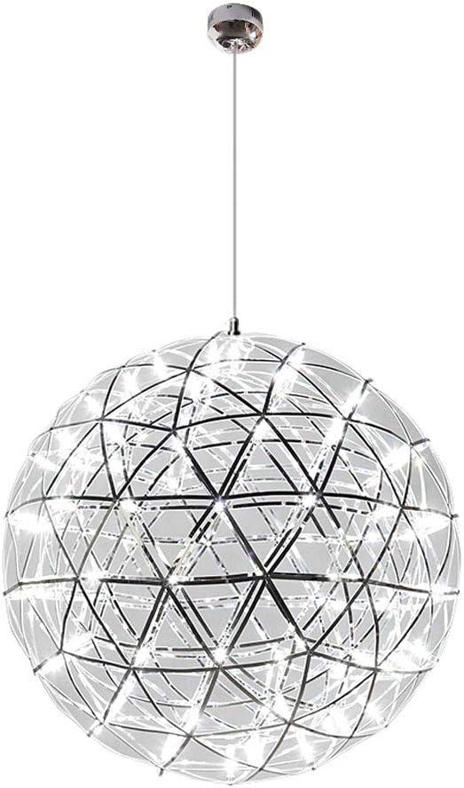 XF Candelabros de Techo Chandelier Personalidad Creativa Restaurante LED Spark Ball Escalera Creative Starry Bedroom Bar Modern Living Room Chandelier - Una Variedad de tamaños Disponibles portavelas