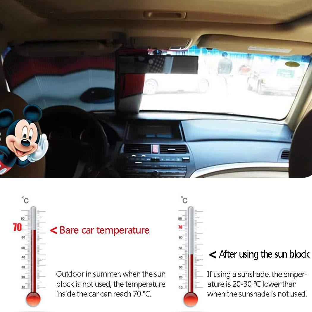 Frost Dreck Yukio Baumarkt Staub Auto Scheibenschutz,Frontscheibe Abdeckung,Auto Abdeckungzum Schutz vor UV-Strahlung und Schnee,Cartoon Augen Design Grau