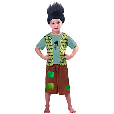 Boys Official The Trolls Branch TV Book Film World Book Day Fancy Dress Costume Outfit 3-8 Years: Clothing