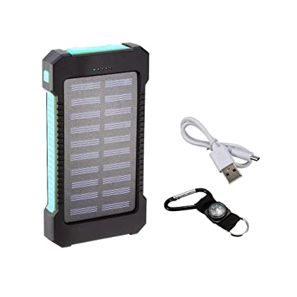 Amazon.com: ZCHXD Solar Charger, 1.2W 8000mAh Dual USB Power ...