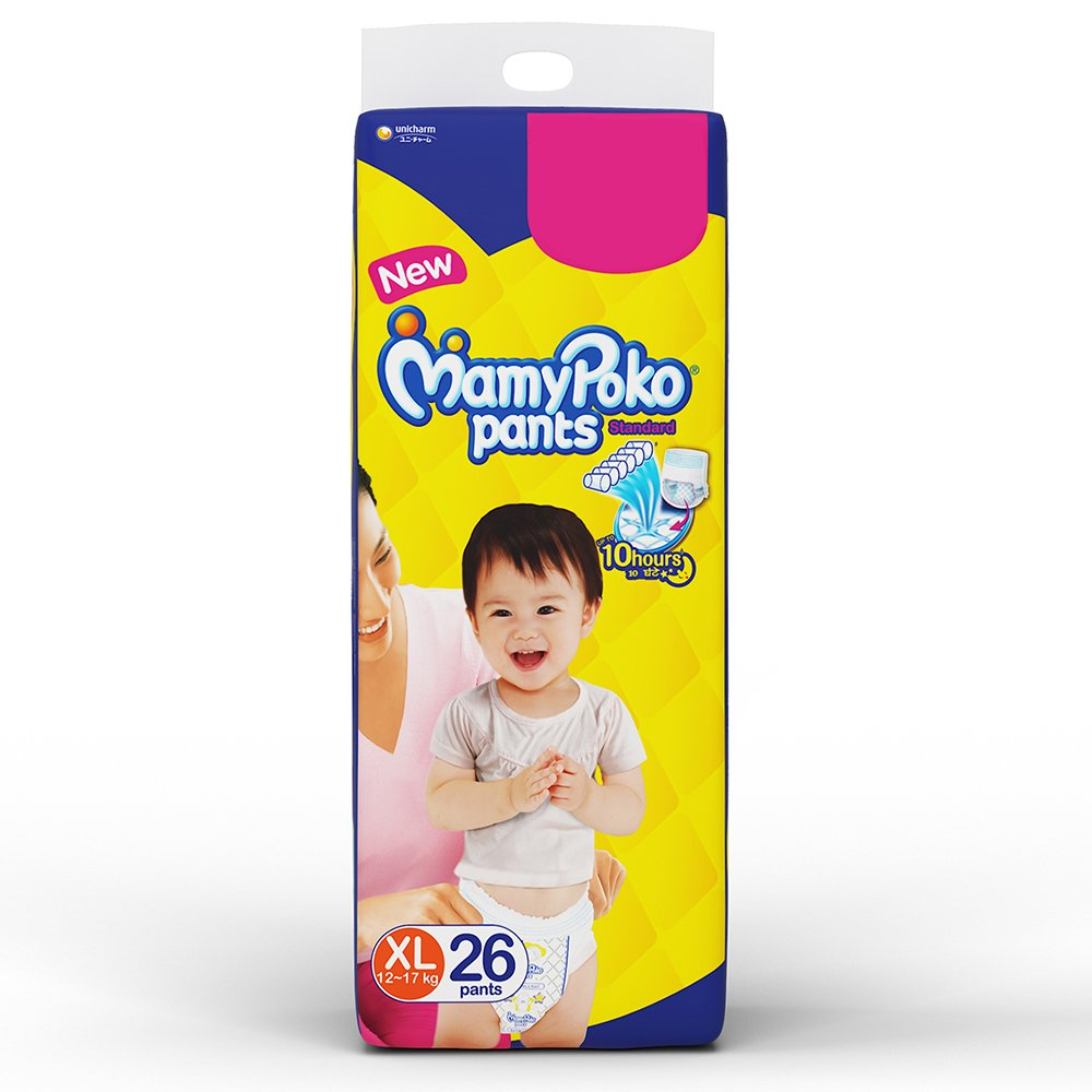 Buy Mamy Poko Pants Standard Pant Style Extra Large Diapers 26 Mamypoko L 28 Count Online At Low Prices In India