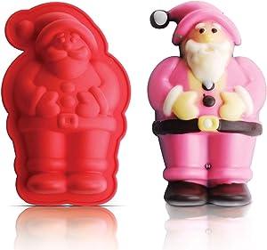 "INNOKA Silicone Santa Claus Cake Mold [5.1"" x 3.3"