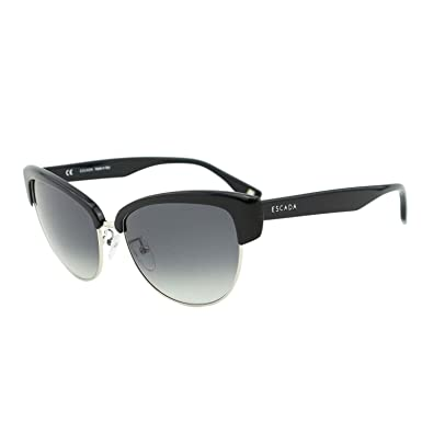 487f75646d1 Image Unavailable. Image not available for. Colour  ESCADA Women SES 396  Black Metal   Acetate Clubmaster Cat-Eye Sunglasses 56mm