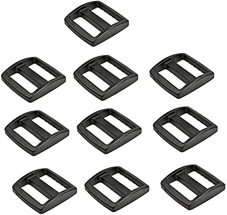 Flyshop Plastic 1//2 Tri-Glides Adjust Buckles for Cat Dog Collar Backpack Straps Black 20 Pcs
