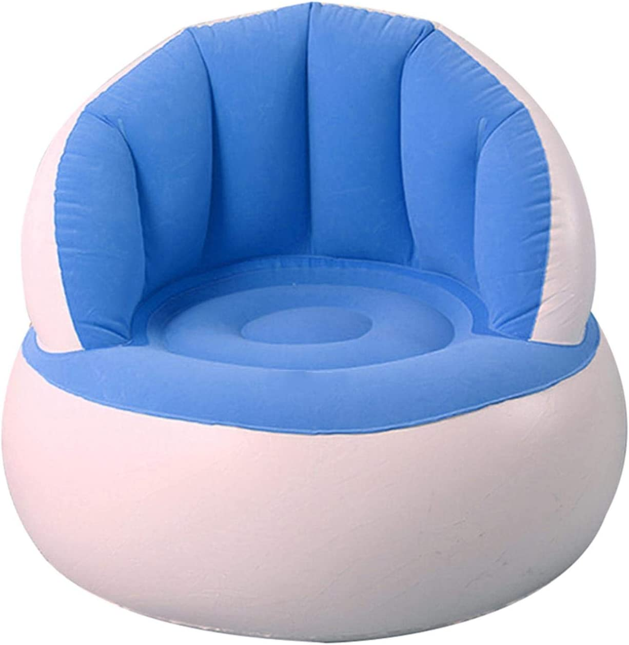 Purelemon Children Inflatable Chair - Inflatable Sofa Chair with Air Pump for Kids - Cute Flocking Colorful Folding Inflatable Stool Chair with Backrest for Kids