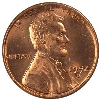 1952-D Lincoln Wheat Cent Choice BU Roll