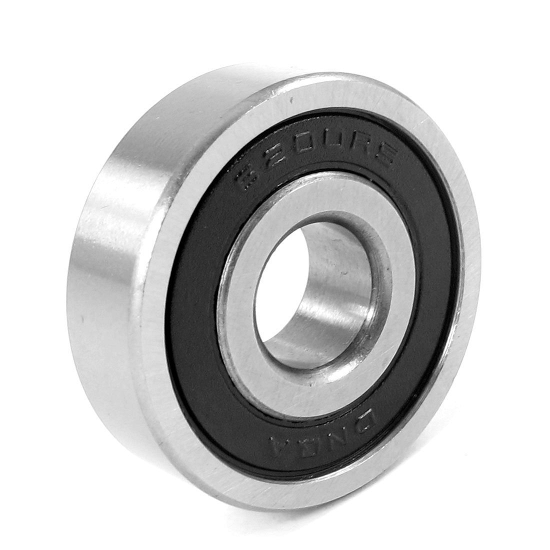Sourcingmap 6200RS Deep Groove Ball Bearing Black 30 x 10 x 9mm - Silver a13062400ux0642