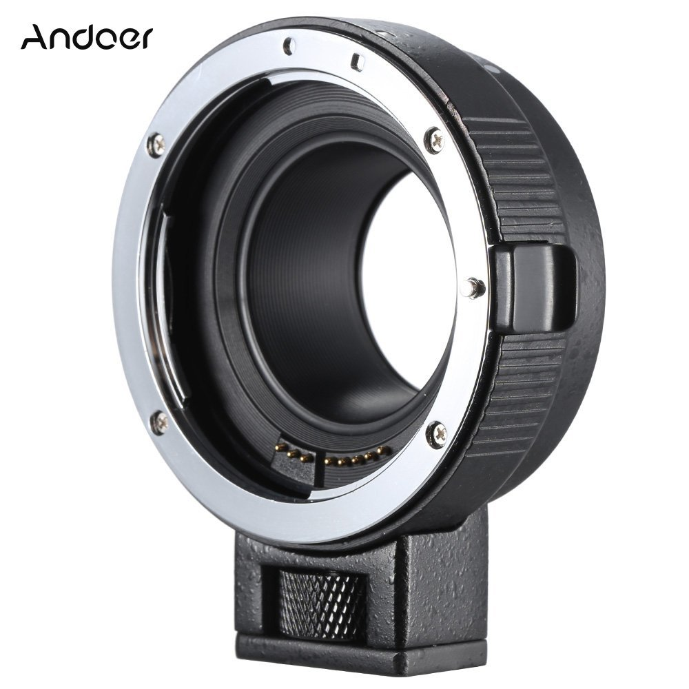 Andoer EOS EF Lens Mount Adapter Support Auto-Exposure Auto-Focus Auto-Aperture for Canon EF/EF-S Series Lens to EOS M EF-M M2 M3 M10 Camera Body Support Image Stability