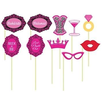 10 photo props bridal bash lingerie shower party supplies