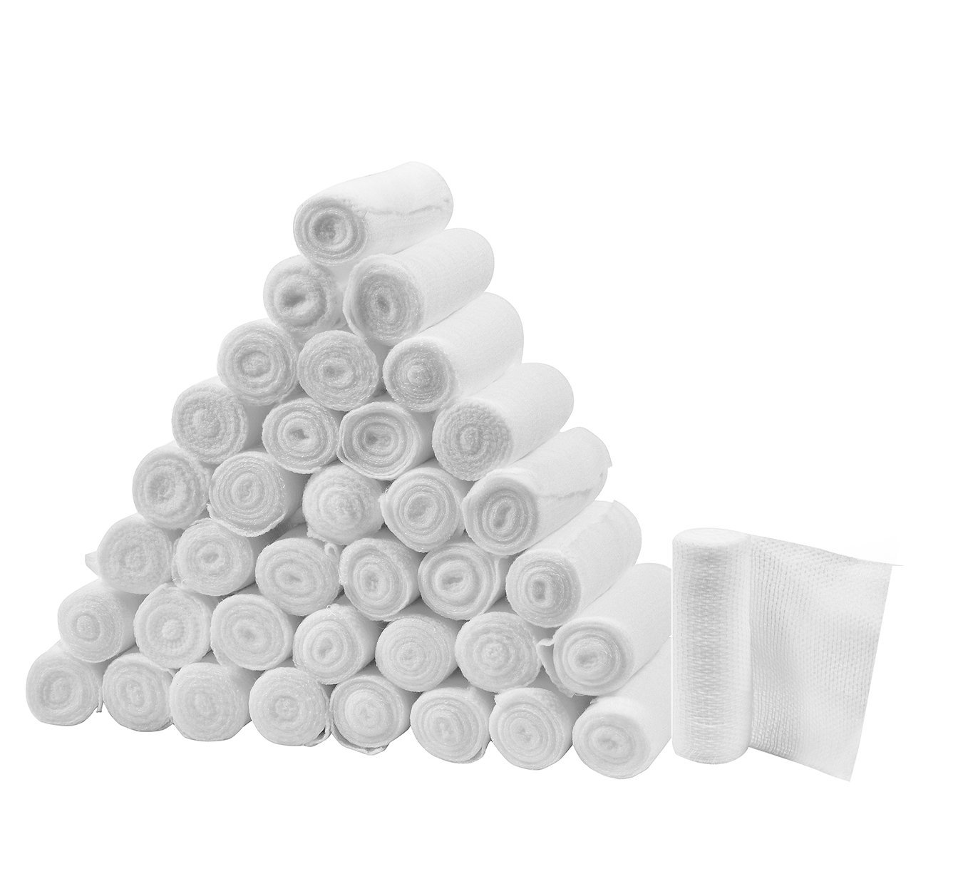 "FlexTrek Premium 36-Pack 3 Inch Conforming Stretch Gauze Bandage Rolls - Latex Free - 3"" x 4.1 yards Stretched"