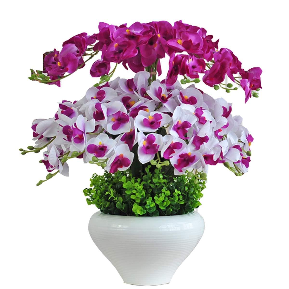 胡蝶蘭造花セット偽の花装飾フラワーアレンジメント用テーブルコーヒーテーブルリビングルーム結婚式の装飾多色オプション (色 : A) B07RY29PJT A