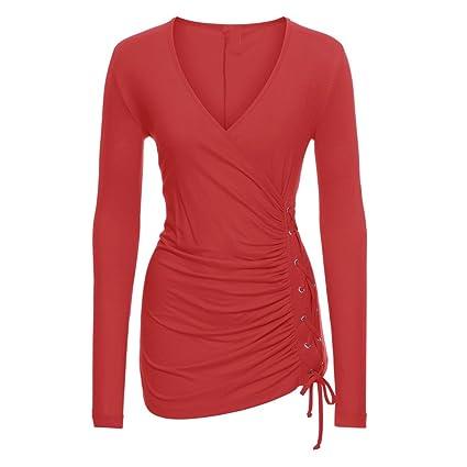 Mujer camisa manag larga moda Otoño,Sonnena ❤ Camisa de manga larga para mujer