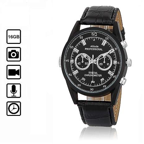 miebul Reloj Reloj cámara Oculta espía, cámara, Mini videocámara Full HD 1080p Infrarrojos visión