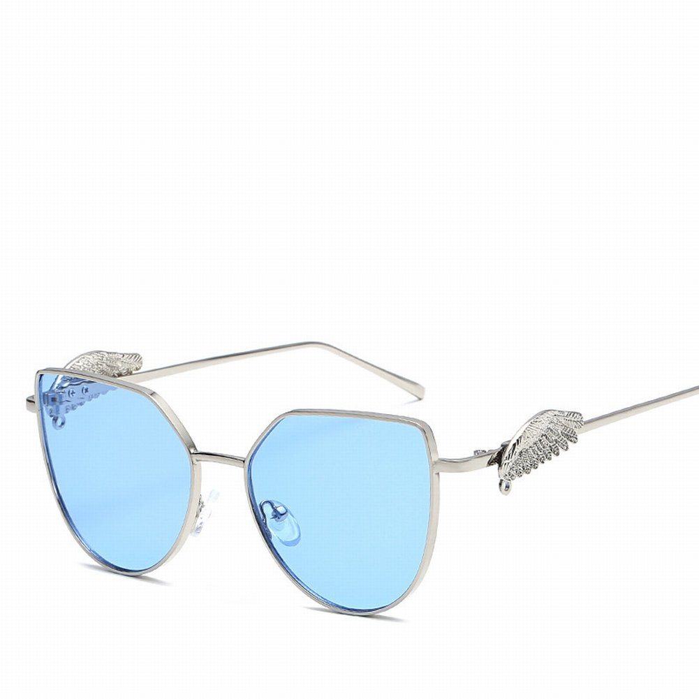 Persönlichkeit Flügel Sonnenbrille Mode Metall Gläser , Silberrahmen