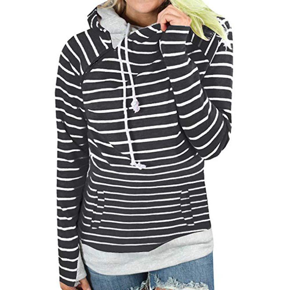 Womens Long Sleeve Colorblock Pullover Fleece Hoodie Sweatshirt Tops by Ghazzi Hoodies & Sweatshirt