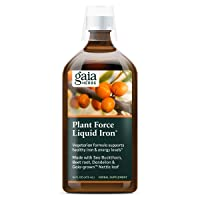 Gaia Herbs PlantForce Liquid Iron Supplement, 16 Ounce - Supports Healthy Iron and...