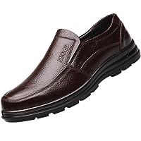 Jiyaru Mens Work Shoes Durable Restaurant Kitchen Chef Flats Business Shoe