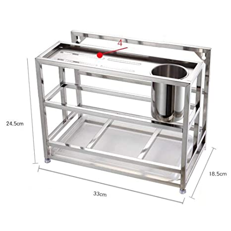 Amazon.com: DHG - Estantería de acero inoxidable 304 para ...