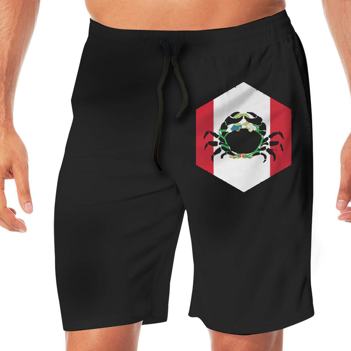 YGE.I.L25 Men Workout Shorts Peru Cancer Quick Dry Beach Board Short with Pocket
