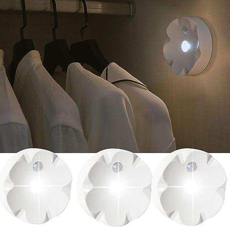 Szokled Motion Sensor Light Battery Powered Wireless Under Cabinet Light Fixtures Led Closet Light Stick On Anywhere Night Light For Hallway