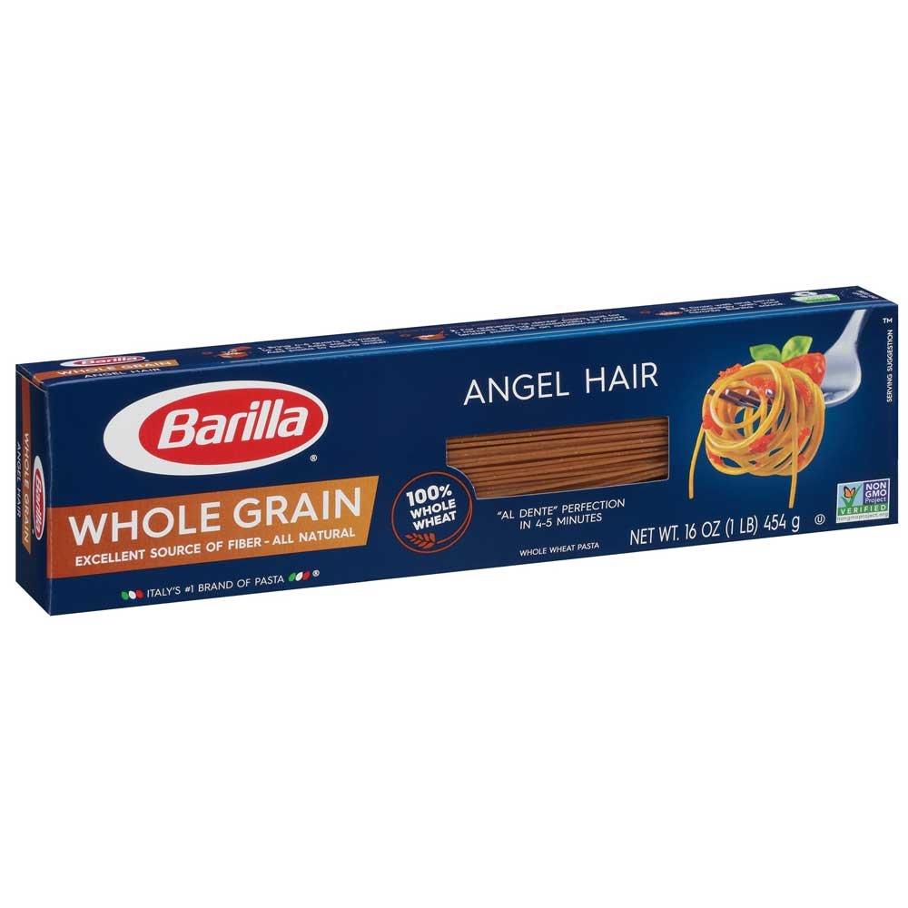 Barilla Whole Grain Angel Hair Pasta, 16 Ounce - 20 per case.