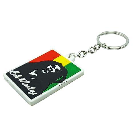 Indianbeautifulart Caucho Llavero Keyfob Bob Marley ...
