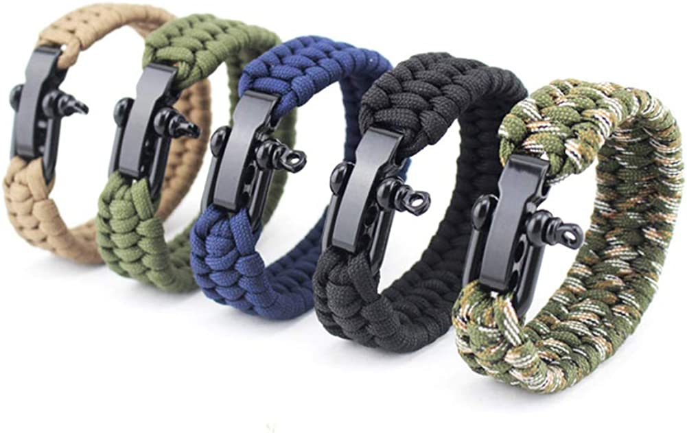 tailor13me Beautiful and Durable Lightweight Handmade Men Weaved Stainless Steel Survival Bracelet Outdoor Camping Wristband