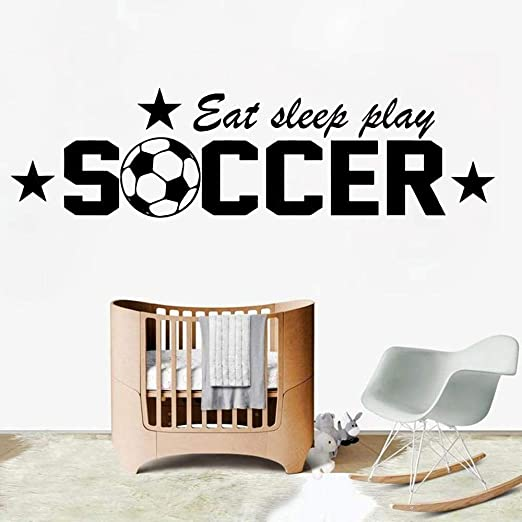 jiushivr Frases de fútbol Pegatinas de Pared Sala de Estar ...
