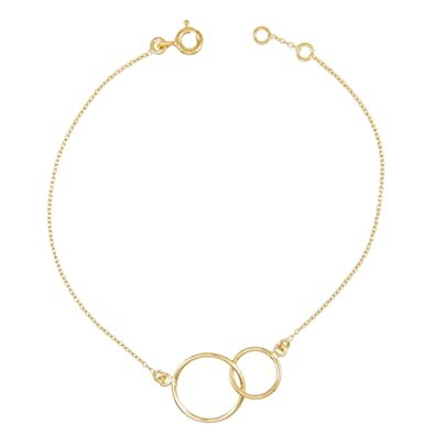 Bracelet L'atelier Femme Anneaux Enlacés Or Jaune D'azur Deux mOyn0N8wv