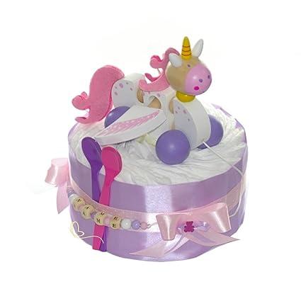 Pañales para tartas PAMPERS® Unicornio Rosa con nombres - Regalos ...