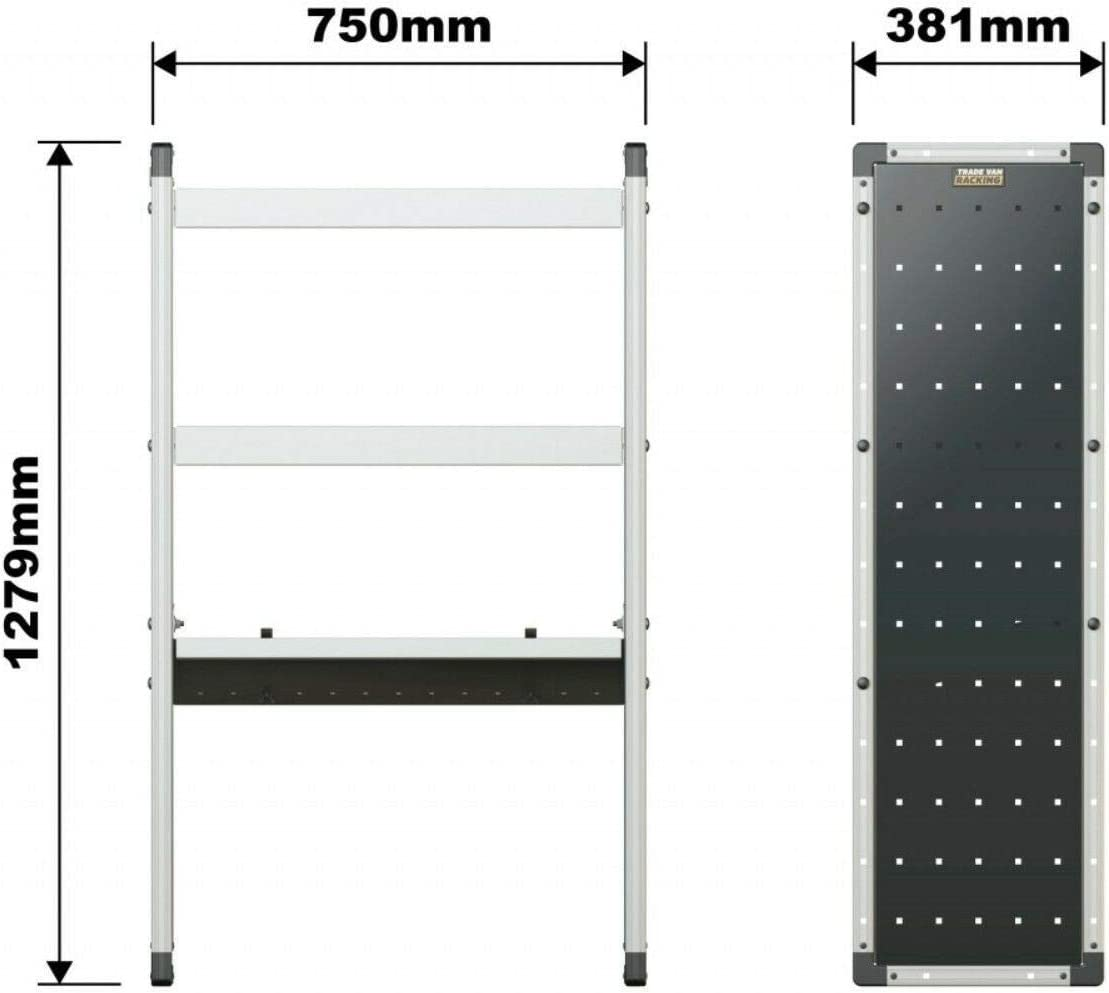 Van Guard Universal Aluminium Racking Triple Shelf Storage 1x Flat 2x Angled Shelves Unit Tvr 403 Amazon Co Uk Car Motorbike