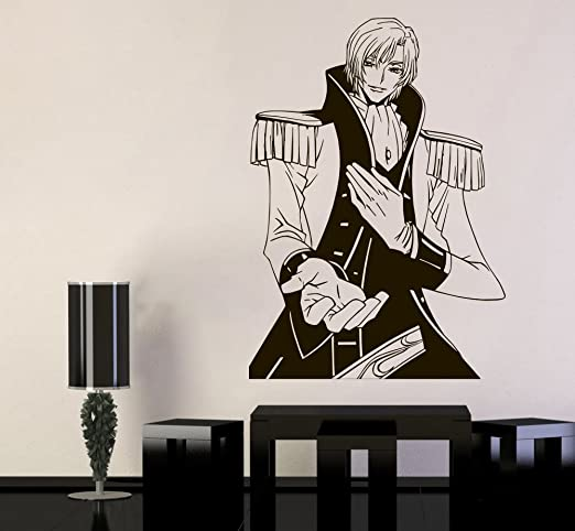 Amazon Com Code Geass Wall Vinyl Decal Schneizel El Britannia Wall Art Top Anime Mural Sticker Decor For Home Bedroom Vinyl Design Cg17 22x31 Kitchen Dining