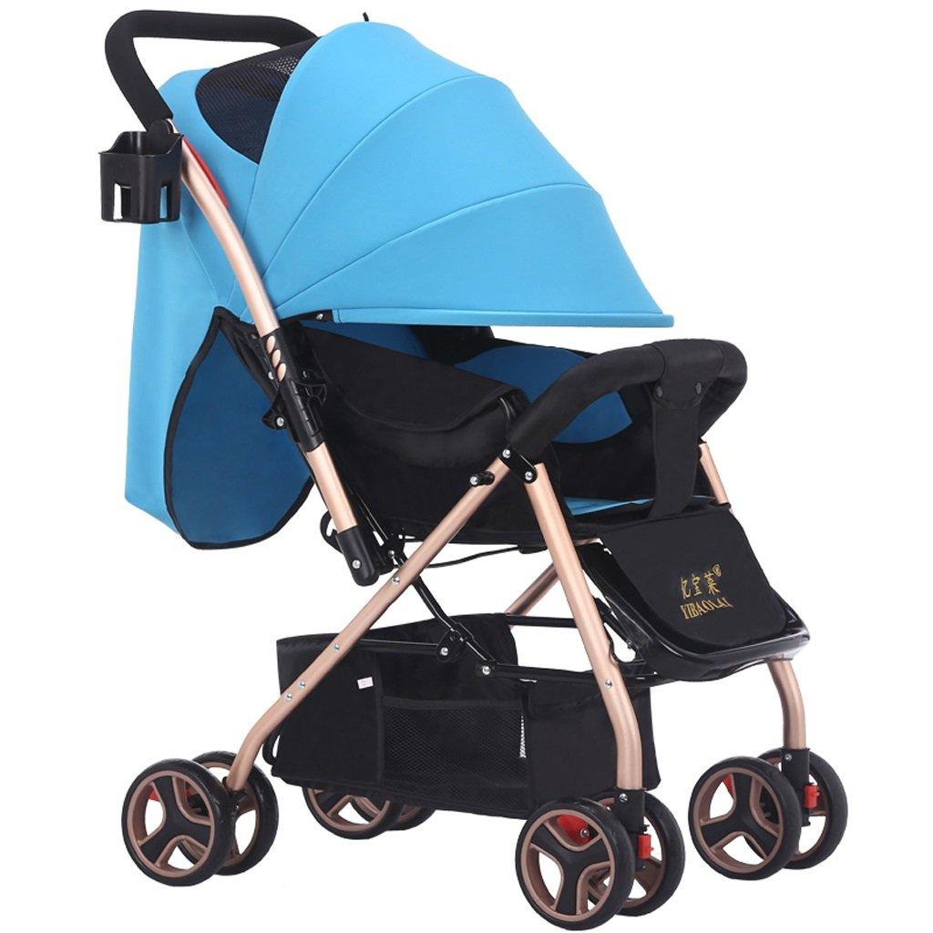 赤ちゃんのベビーカーは、座って軽い折りたたみポータブルベビーベビーカー(赤)(カーキ)70 * 51 * 101センチメートル ( Color : Blue ) B07BSYB575