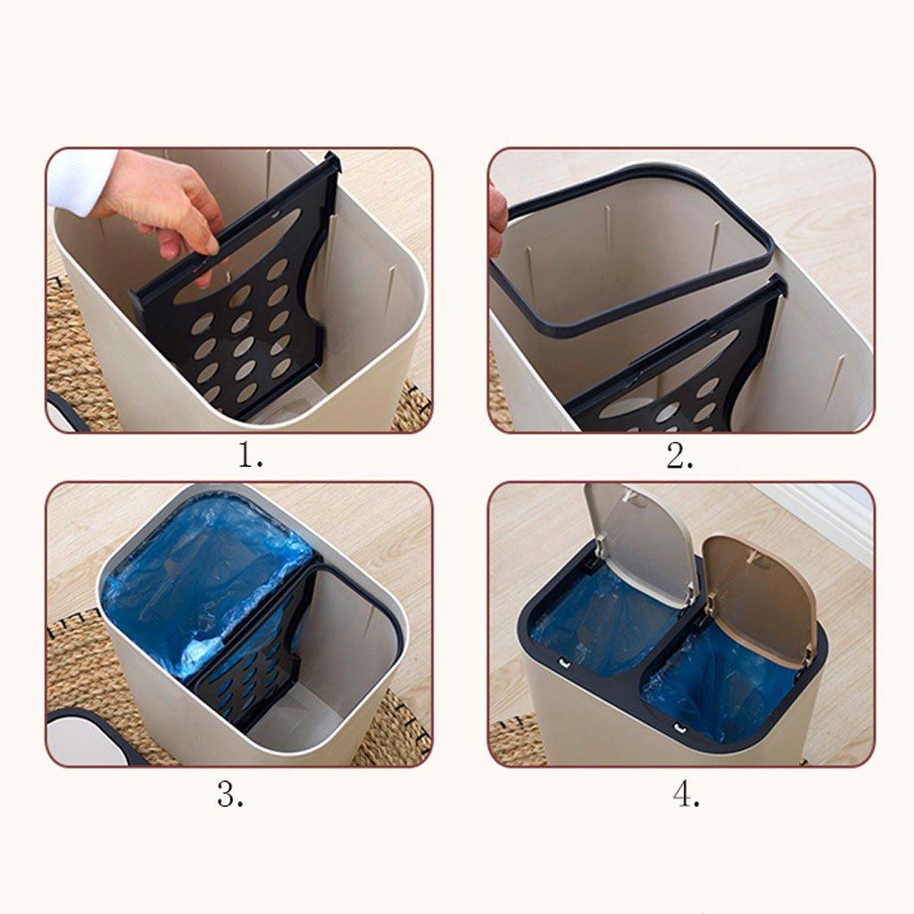 MDBLYJ Basura de Tipo Prensa, Prensa, Tipo Cocina de baño de hogar, clasificación de Sala de Estar, Cubo de Basura - Papelera de Reciclaje (Color : B) 9cce61