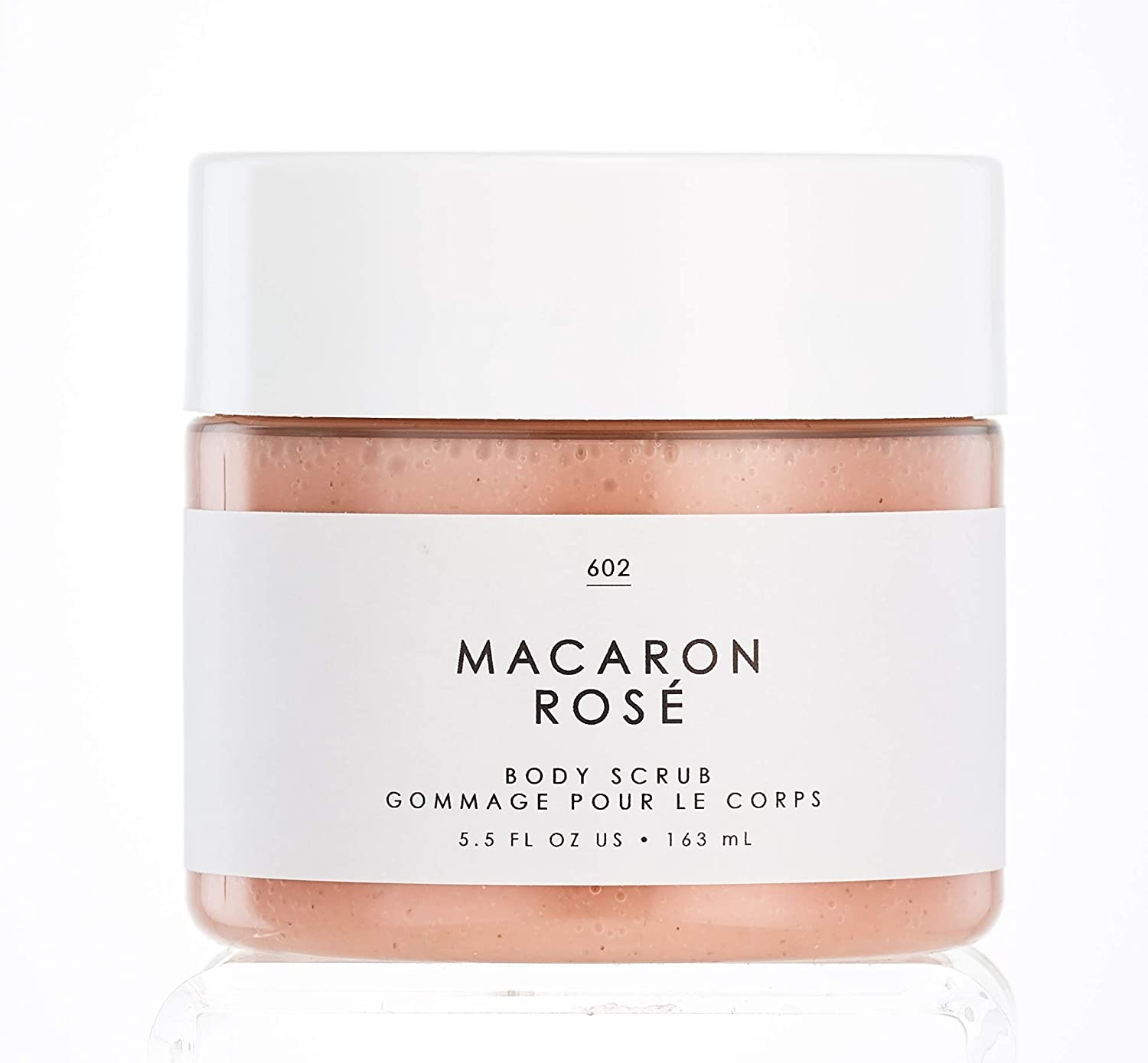 No. 615 Macaron Rose Body Scrub - Gourmand by Tru Fragrance and Beauty - Exfoliating and Rejuvinating Scented Shower Scrub - Eau de Rose, Turkish Delight, Sugar Cane - 5.5 oz