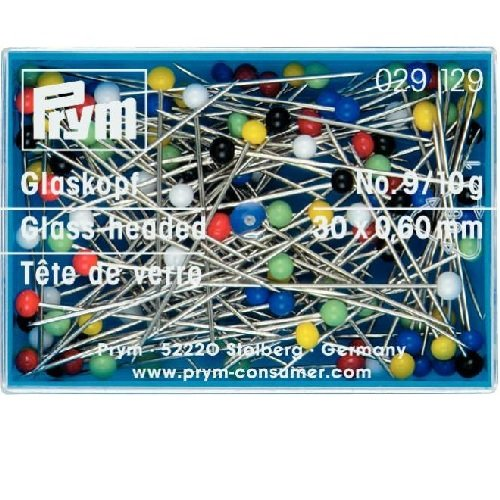 Prym Glass Headed Pins, Multi-Colour