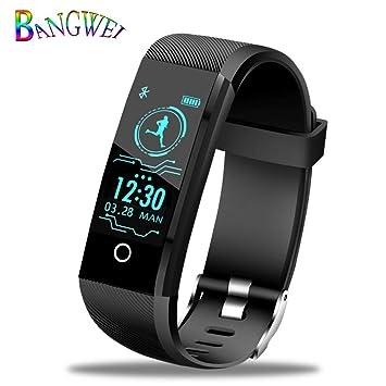 LETAMG Monitores de actividad Deporte Pulsera Inteligente Hombres Reloj Inteligente Mujeres Fitness Tracker Pulsera Inteligente Monitor de Presión Arterial ...