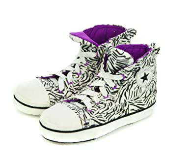b004ede50447 Girls or Boys Novelty Converse Baseball Style Hi Top Runner Slippers in  Various Colours (11 12