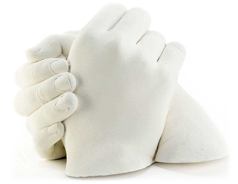 Plushible Hand Casting Anniversary Kit 3D Creative Plaster Powder Hand Casting Kit Couples Anniversary Gift