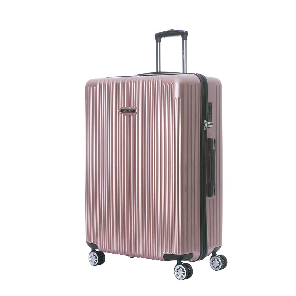 NaSaDen Hardside Carryon Luggage TSA Lock ABS PC Rose Gold 22-Inch German Design Suitcase with Wheel for Travel Women Men Business 1 year warranty