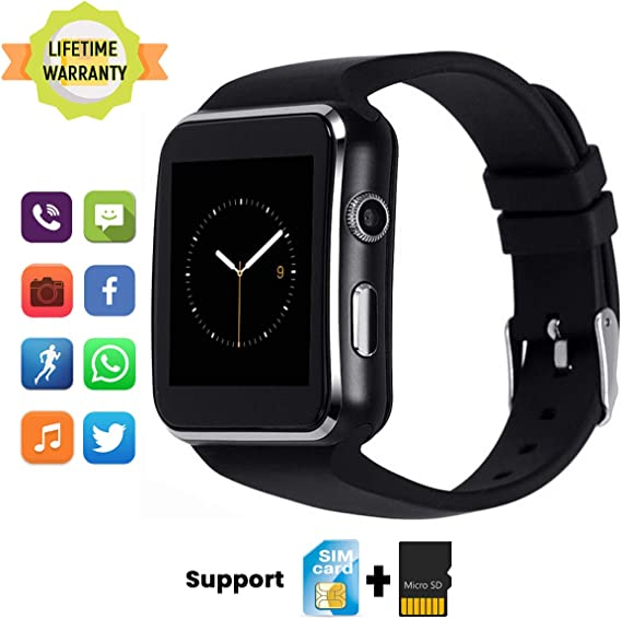 TagoBee Smart Watch TB01 Bluetooth SmartWatch Touch Screen Fitness Tracker with SIM SD Memory Card Slot Camera Pedometer Wrist Watch Compatible for ...