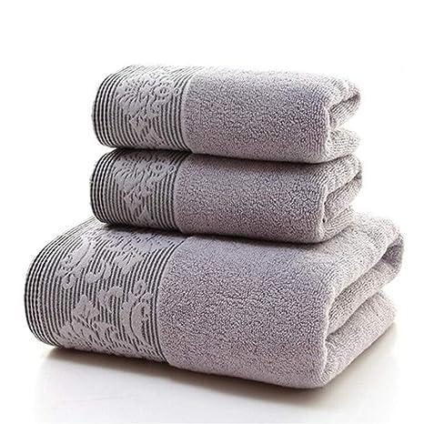 SUxian -Comfortable 3pcs espesó Las Toallas de baño Suaves secas rápidas del Sistema de la
