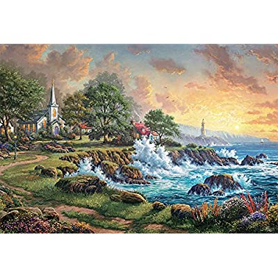 Ceaco Seaside Haven Puzzle by Thomas Kinkade Puzzle (2000 Pieces): Toys & Games