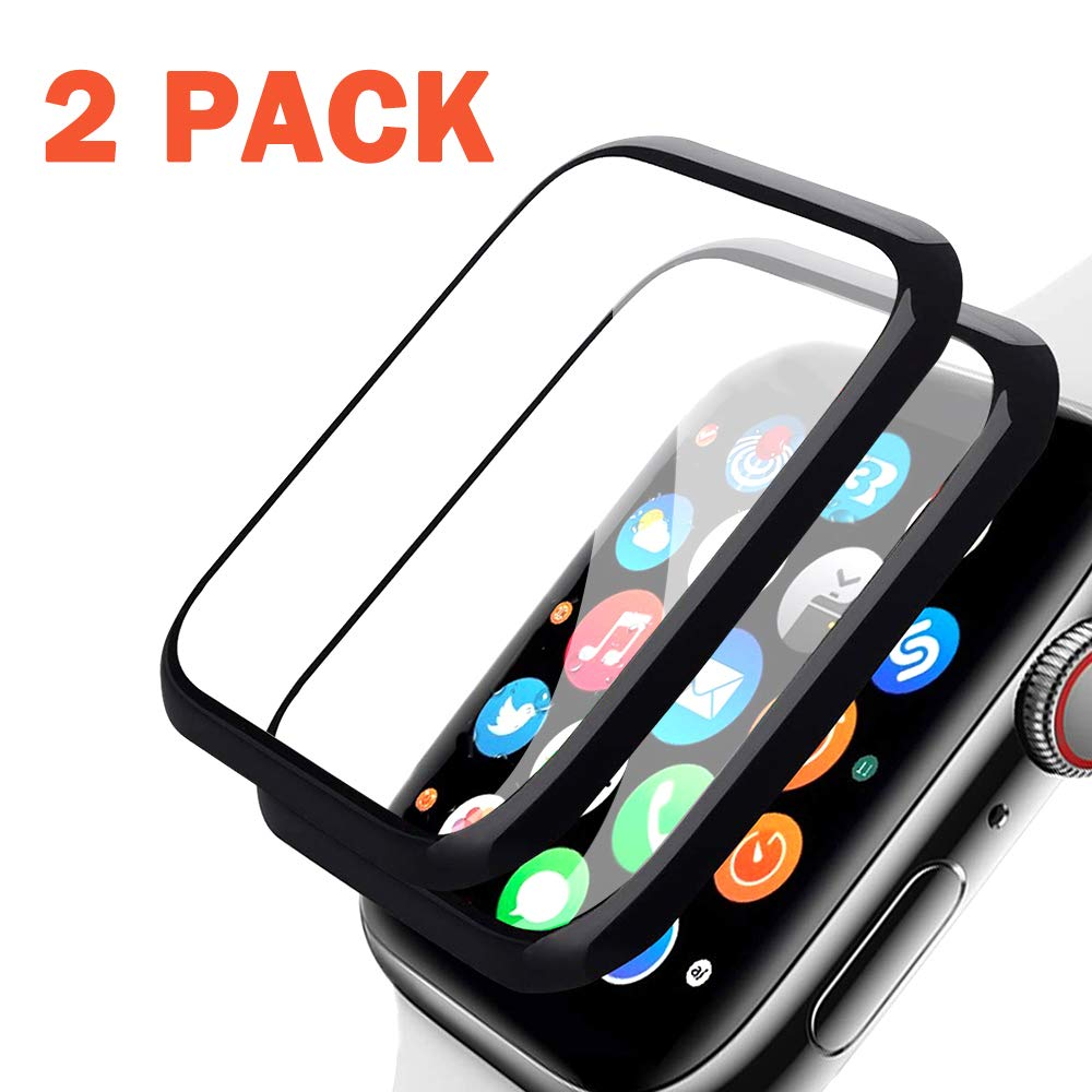 Semriver Apple Watch Series 4 40MM Screen Protector, [2 Pack] Tempered Glass Full Coverage Scratch Resistant Screen Film Compatible with Apple Watch Series 4 40MM by Semriver