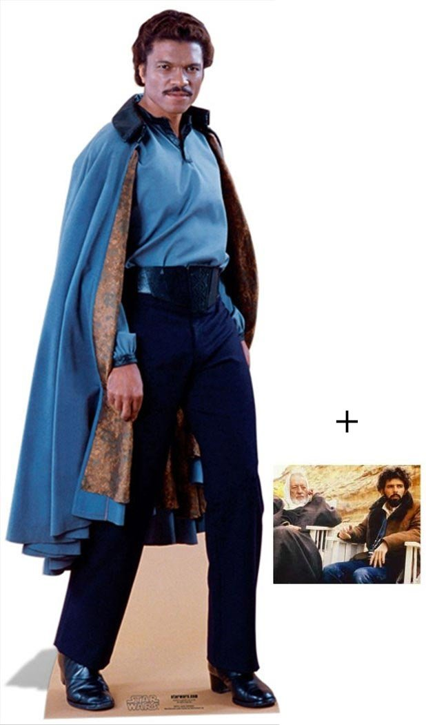 Fan Pack - Lando Calrissian de Star Wars Lifesize Grand Silhouette En Carton Standee / Stand-Up - Avec Star Photo (Dimensions 25x20 Cm) BundleZ-4-FanZ Fan Packs