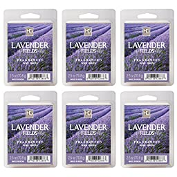 Hosley\'s Lavender Wax Cubes / Melts - Set of 6 / 2.5 oz each. Hand poured wax infused with essential oils.