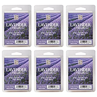 Hosley's Lavender Fields Wax Cubes - Set of 6 / 2.5 oz each. Hand Poured Wax Infused with Essential Oils. BULK BUY. Ideal for Weddings, Special Occasions, Parties, Spa, Reiki, Meditation Settings O3