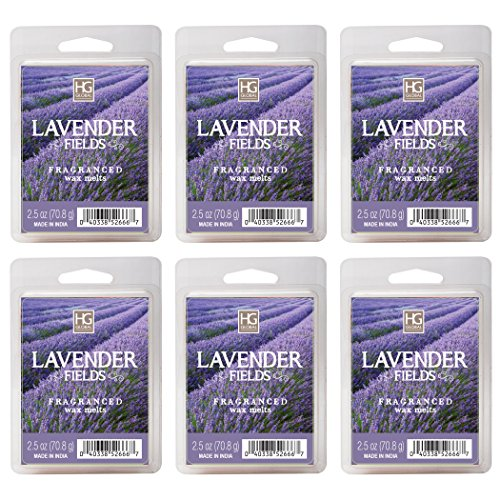 Hosley Lavender Fields Wax Cubes - Set of 6/2.5 oz each. Han