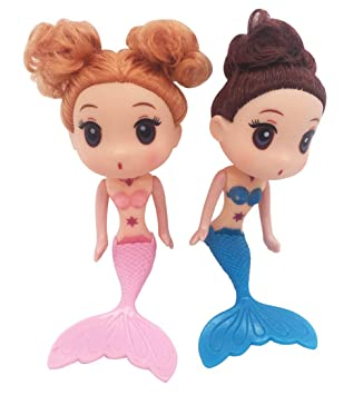 Muñeca de sirena princesa niñas 2 piezas/juego de 6,3 pulgadas para decoración de pasteles Barbie Lovely Tools Baby Cake Molde Fondant: Amazon.es: Hogar