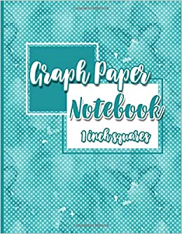 graph paper notebook 1 inch squares blank graphing paper square